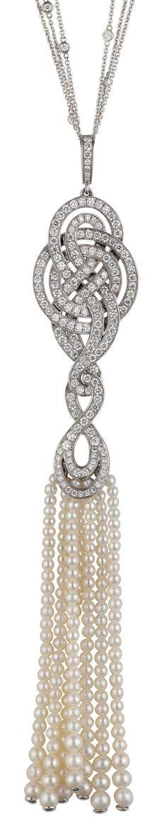 Garrad's Diamond & Pearl Necklace