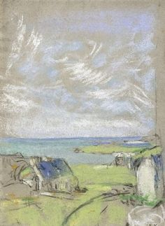 Edouard Vuillard The Sky at Saint-Jacut, 1909 - Pastel on paper