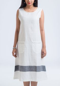 Longer days and shorter nights, Darker shades and brighter lights. That time you realize its summer time..Nothing can make you feel more comfortable than this Khadi elongeted Dress is definitely yes for this summer!