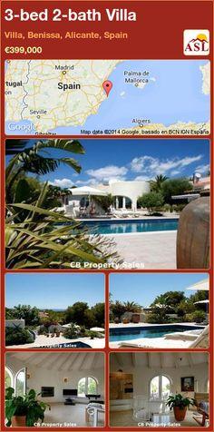 3-bed 2-bath Villa in Villa, Benissa, Alicante, Spain ►€399,000 #PropertyForSaleInSpain