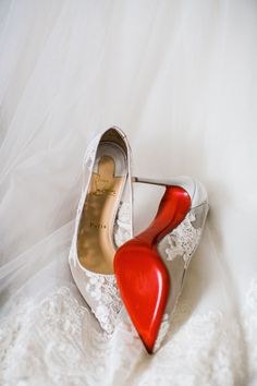 red bottom wedding shoes