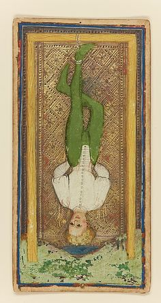 Traitor - The Visconti-Sforza Tarot by Bomifacio Bembo c.1450 - Metropolitan Museum of Art
