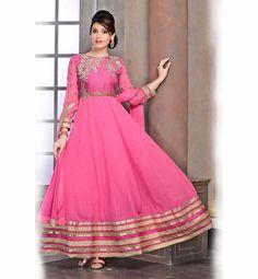 FULL LENGTH ANARKALI SALWAR KAMEEZ SUIT. BEST RATE PINK FAUX GEORGETTE DESIGNER PARTY WEAR TO WEAR AT WEDDING FUNCTION.   Buy Anarkali Dress, Anarkali Suits Online, Anarkali Dresses, Designer Anarkali Suits, Long Anarkali Suits, Bollywood Anarkali Suits, Salwar Suits Designs, #PartyWear #AnarkalSuits #OnlineShopping