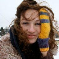 Autumn gloves women fingerless gloves mittens por RainbowMittens