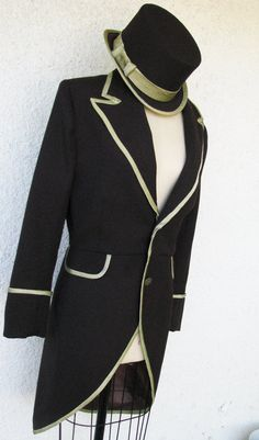 Tuxedo jacket with tails & top hat