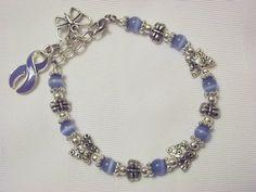 asthma bracelets | ... awareness butterfly bracelet periwinkle cats eye beaded bracelet with