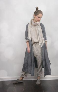 Linen Wrap Dress / Jacket por KnockKnockLinen en Etsy