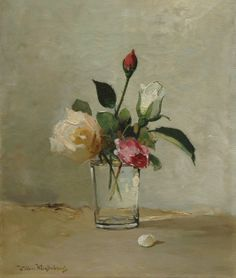 W. WEISSENBRUCH: Roses in a Glass