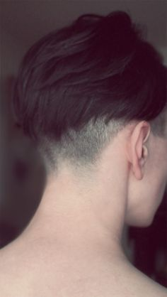 Nape shaved, long on top