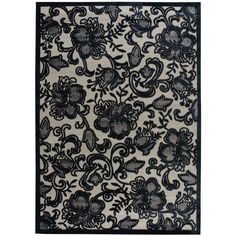 "Nourison Area Rug, East Hampton Gothic Lace Pewter 2'3"" x 3'9"" found on Polyvore"