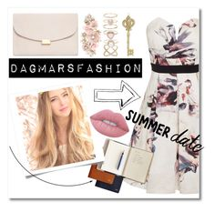 """""""Untitled #411"""" by dagmarsfashion ❤ liked on Polyvore featuring Little Mistress, Mansur Gavriel, Accessorize, Lord & Taylor, Lime Crime, statefair and summerdate"""