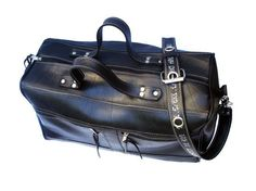 Travelbag from innertubes.  Neumatica is an argentinian brand  that works with inner tubes to give life to new products