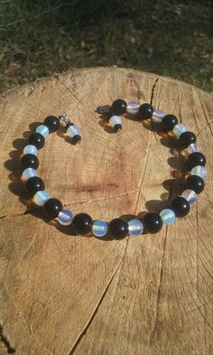 Check out this item in my Etsy shop https://www.etsy.com/listing/517955078/stone-bracelet-fun-hippy-boho