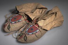 Beaded Moccasins (Blackfoot/Piegan), acquisition 1903.