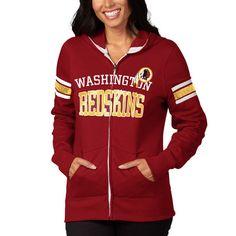 Washington Redskins Majestic Women's Pure Heritage VI Full Zip Hoodie - Burgundy - $64.99