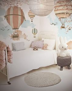 Little Hands Wallpaper Mural - Balloon Ride II