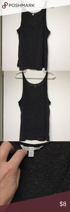 Victoria's Secret tank top Tank is 85% polyester and 15% flax. Lightweight with a low neckline. Size XL. Victoria's Secret Tops Tank Tops