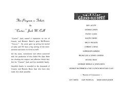 Original program for the March 3, 1963 Kansas City benefit concert.
