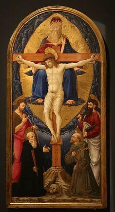 [Renaissance] Neri di Bicci - Trinità con Santi - 1461 - Museo dell'Opera di Santa Croce, Firenze