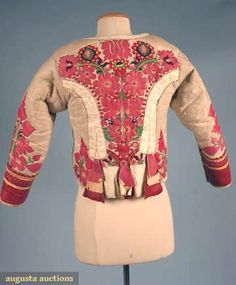 North America's auction house for Couture & Vintage Fashion. Augusta Auctions accepts consignments of historic clothing and textiles from museums, estates and individuals. Leather Art, Leather Cuffs, White Leather, Vintage Outfits, Vintage Fashion, Wool Embroidery, Ethnic Outfits, Clothing And Textile, Costume