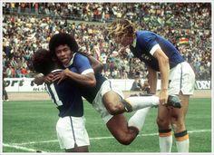 Bresil 1974 : Paulo Cesar, Jairzinho et Francisco Marinho
