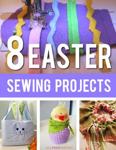 Spring is in the air, and it's time to start craft projects for Easter! With inspiration from our Easter Sewing Projects eBook, you can complete 8 adorable, simple crafts for Easter with all those bright fabrics you've been missing all winter!