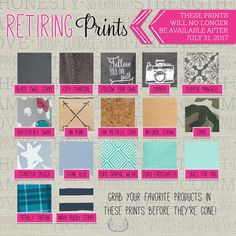 The Spring/Summer 2017 Thirty-One Retirement List is LIVE...don't miss out on your favorites!  They go into the vault at midnight on July 31st! www.AnchoredBagsBySarah.com