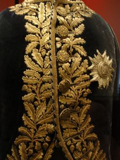Gold embroidery on French officer's uniform