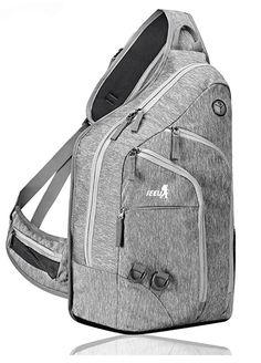 Plus Oversized Sling Bag for Men Women, Extra Durable Rope Strap shoulder sling bag Chest Backpack for Outdoor Shoulder Sling, Shoulder Backpack, Men's Backpack, Oakley Backpack, Mens Canvas Messenger Bag, Single Strap Backpack, Best Laptops, Fashion Bags, Fashion Trends