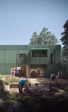 Healthcare Architecture, School Architecture, Architecture Plan, Residence Senior, Co Housing, Elderly Home, Copenhagen Denmark, Types Of Houses, Building Design