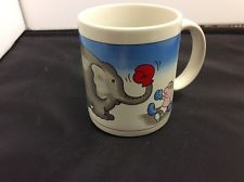 Cartoon elephant  boxing coffee mug