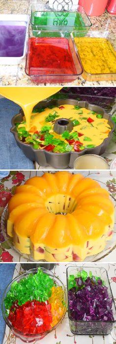 """Gelatina de mango de tres leches (how to) """" By Gina.  #gelatina #mango #tresleches #gelato #frutas #postres #cheesecake #cakes #pan #panfrances #panettone #panes #pantone #pan #recetas #recipe #casero #torta #tartas #pastel #nestlecocina #bizcocho #bizcochuelo #tasty #cocina #chocolate   Si te gusta dinos HOLA y dale a Me Gusta MIREN..."""