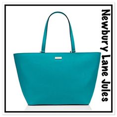 KATE SPADE NEWBURY LANE JULES TOTE NEON TURQUOISE See attached description in pictures.  Note actual color is darker than stock photo. Some photos courtesy Kate Spade,com.  NWT.  No trades or holds. kate spade Bags Totes