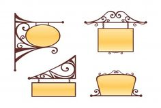 Find Vector Wrought Iron Signs stock images in HD and millions of other royalty-free stock photos, illustrations and vectors in the Shutterstock collection. Thousands of new, high-quality pictures added every day. Victorian Fonts, Victorian Pattern, Victorian Era, Antique Signs, Vintage Signs, Blade Sign, Sign Image, Got Wood, Gate Design