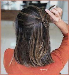 Brown Hair Balayage, Brown Blonde Hair, Hair Highlights, Dark Hair, Blonde Roots, Color Highlights, Medium Hair Styles, Short Hair Styles, Shoulder Length Hair