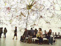 Brain Forest Art Installation by: Gerda Steiner and Jörg Lenzlinger Wall Installation, Art Installations, Forest Art, Picture Day, Museum Of Contemporary Art, Music Film, Photo Projects, Community Art, Textile Art