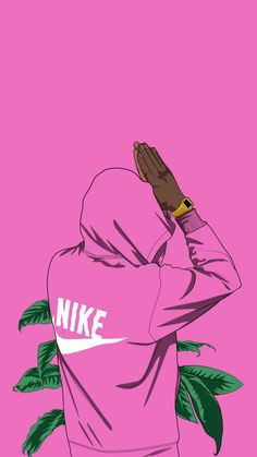 NIKE&ピンクマンiPhone壁紙 iPhone 5/5S 6/6S PLUS SE Wallpaper Background