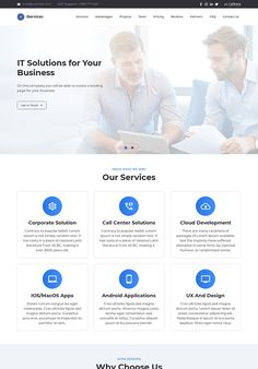 iServices - IT Solutions for Your Business Services Landing Page Template Landing Page Examples, Best Landing Pages, Landing Page Inspiration, Website Design Inspiration, Page Template, Templates, Page Design, Web Design, What Is Meant