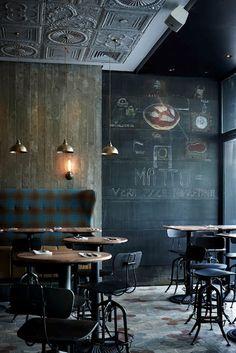 ♂ It's a man's world - Matto bar and restaurant interior, Shanghai