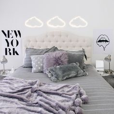 The bedsure organic luxury bedding sets full and delivered straight to your door. Purple Dorm Rooms, Purple Bedroom Decor, Purple Bedrooms, Bedroom Decor For Teen Girls, Teen Room Decor, Room Ideas Bedroom, Dorms Decor, Dorm Room Designs, Cute Room Decor