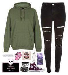 """Untitled #865"" by chill-outfits ❤ liked on Polyvore featuring Topshop and Converse"