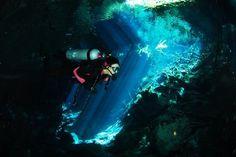Scuba Cancún: Diving the cenote Chac Mool near Playa del Carmen Mexico