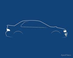 'Rex Brushstroke' Poster by ApexFibers Wrx, Impreza, Car Silhouette, Automotive Design, Brush Strokes, Originals, Logo, Studio, Image