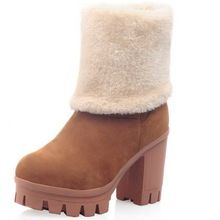 Like and Share if you want this  2016 Keep warm winter round toe slip on high square heels solid plain mid calf women's shoes sexy platform flock snow boots     Tag a friend who would love this!     FREE Shipping Worldwide     #Style #Fashion #Clothing    Get it here ---> http://www.alifashionmarket.com/products/2016-keep-warm-winter-round-toe-slip-on-high-square-heels-solid-plain-mid-calf-womens-shoes-sexy-platform-flock-snow-boots/