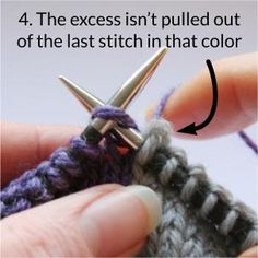 When knitting with inlays you color a picture line by line in the fabric. This is a difference to kn Intarsia Knitting, Knitting Help, Knitting Stitches, Knitting Patterns Free, Baby Knitting, Stitch Patterns, Changing Colors In Knitting, Last Stitch, Tips & Tricks