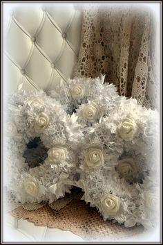 white shabby wreaths - my shabby white home