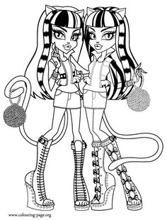 Beautiful Rochelle Goyle The Monster Coloring Pages Monster High
