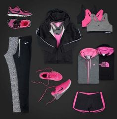 Sport outfit pink workout gear ideas closer walk fitness challenge a journey of faith and fitness Athletic Outfits, Sport Outfits, Casual Outfits, Cute Outfits, Fashion Outfits, Athletic Gear, Style Fashion, Athletic Shoes, Cute Workout Outfits