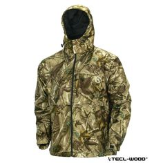 #New #TECLWOODCamo TECL-WOOD Functional Hooded Soft Shell Camo Fishing Jacket