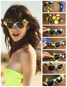 Feeling DIY-inspired? Pick up some plain sunglasses and decorate your own for stand-out fest style.